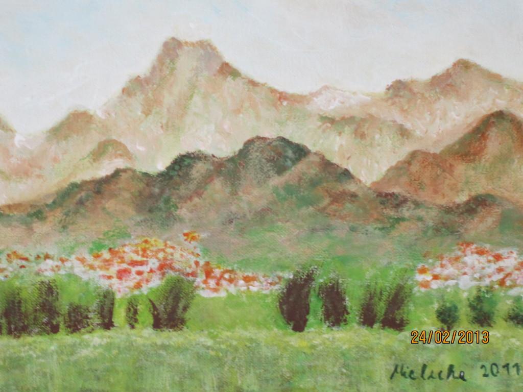 Berglandschaft bei Peking