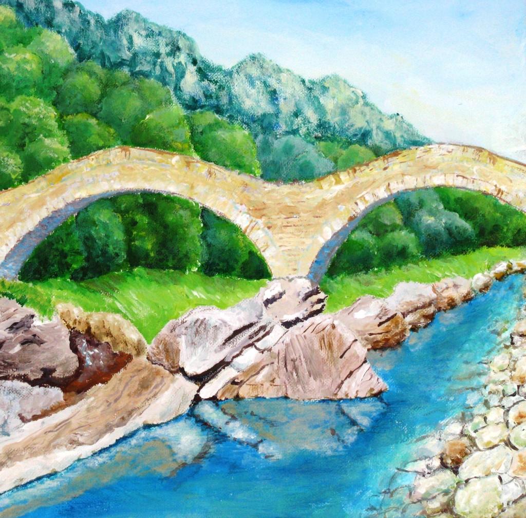Steinerne Brücke im Tessin