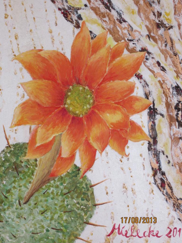 Blüte auf Kaktus