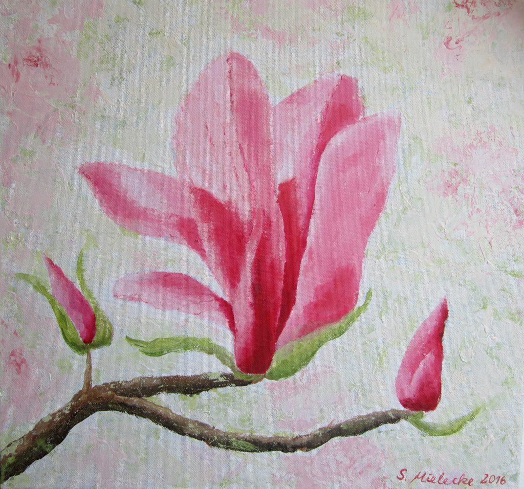Magnolienblütenzweig