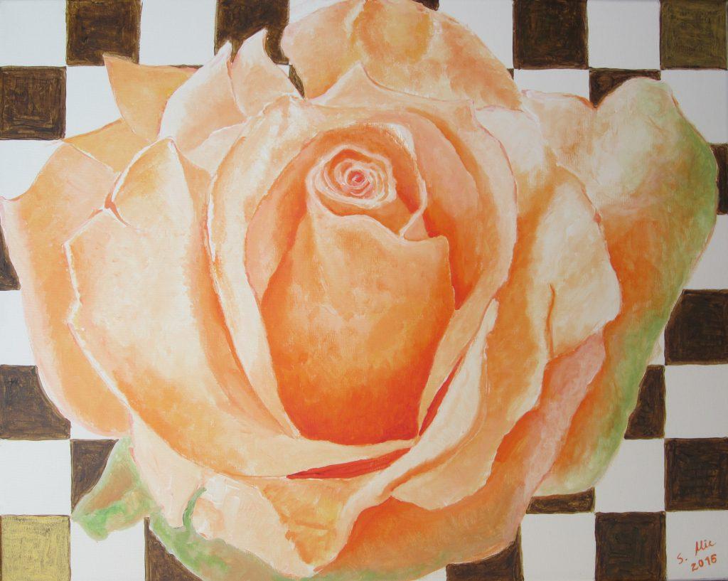 Rosenblüte hellorange